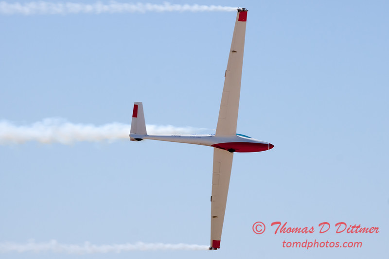 776 - Bob Carlton in his Jet powered Sailplane perform at the South East Iowa Air Show in Burlington Iowa