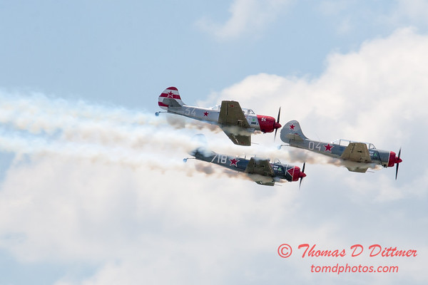 214 -  Team Aerostars perform in their Yak 52 aircraft at the 2012 Rockford Airfest - Chicago Rockford International Airport - Rockford Illinois - Sunday June 3rd 2012
