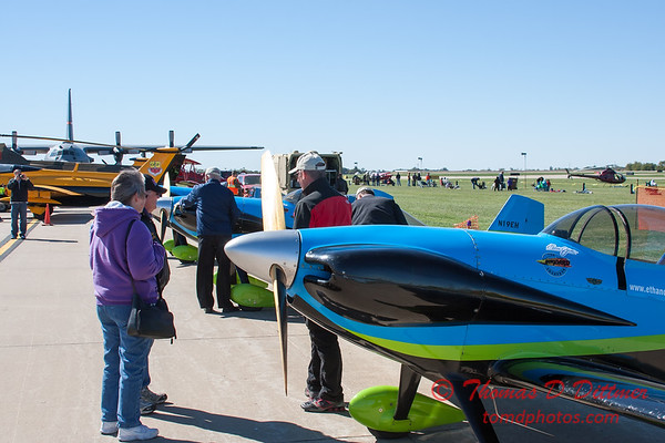 44 - Crew members from the Vanguard Squadron ready the RV3 aircraft for the show at the South East Iowa Air Show in Burlington Iowa