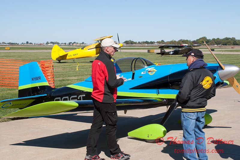 43 - Crew members from the Vanguard Squadron ready the RV3 aircraft for the show at the South East Iowa Air Show in Burlington Iowa
