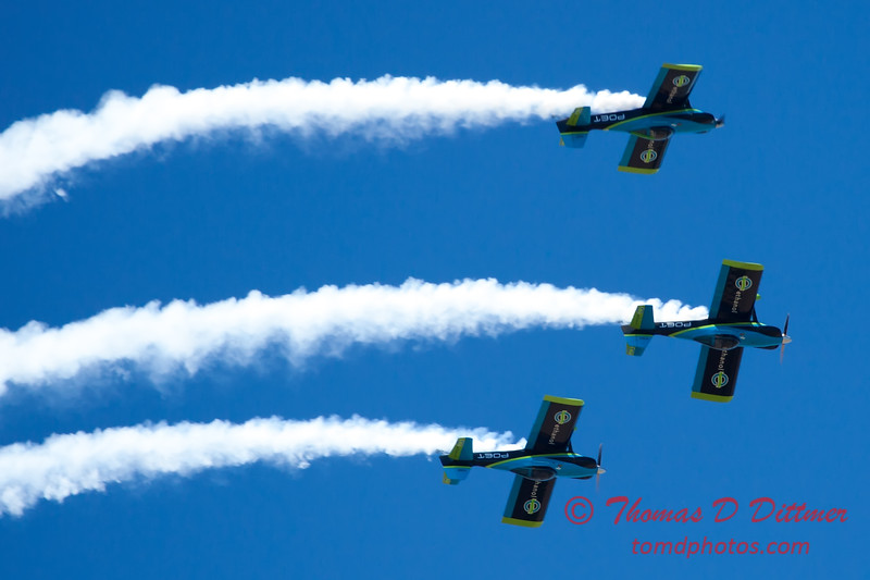 141 - The Vanguard Squadron perform in their ethanol powered RV3's at the South East Iowa Air Show in Burlington Iowa