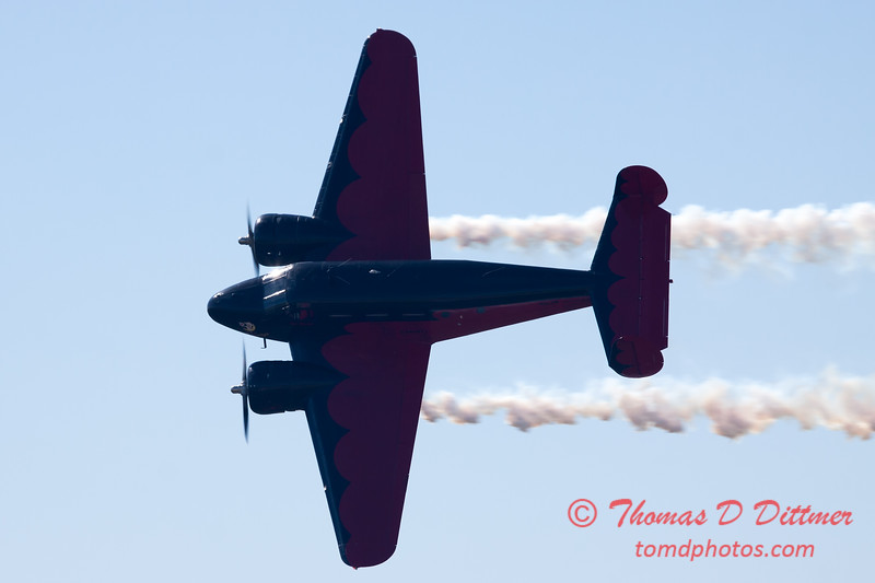 """897 - Matt Younkin performs for fans in his Beechcraft BE18 """"Twin Beech"""" at the South East Iowa Air Show in Burlington Iowa"""