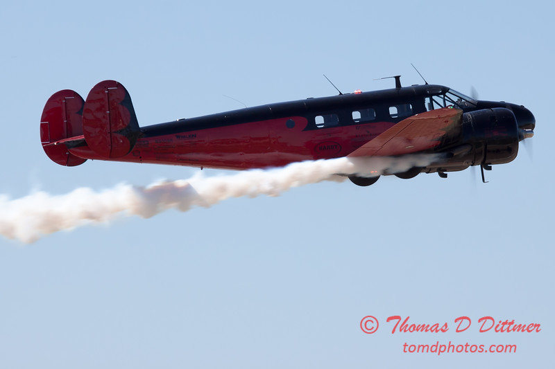"853 - Matt Younkin performs for fans in his Beechcraft BE18 ""Twin Beech"" at the South East Iowa Air Show in Burlington Iowa"