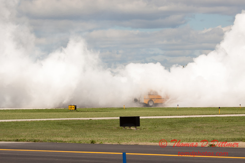 887 - Paul Stender and the Indy Boys School bus ignites the crowd at Wings over Waukegan 2012