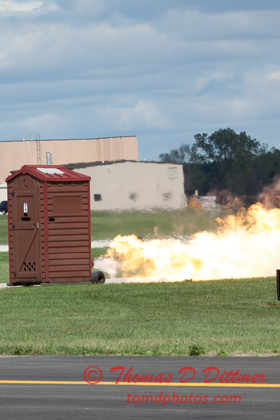 """487 - Paul Stender and the Indy Boys Mobile Out House bring new meaning to """"Hot Gas"""" at Wings over Waukegan 2012"""