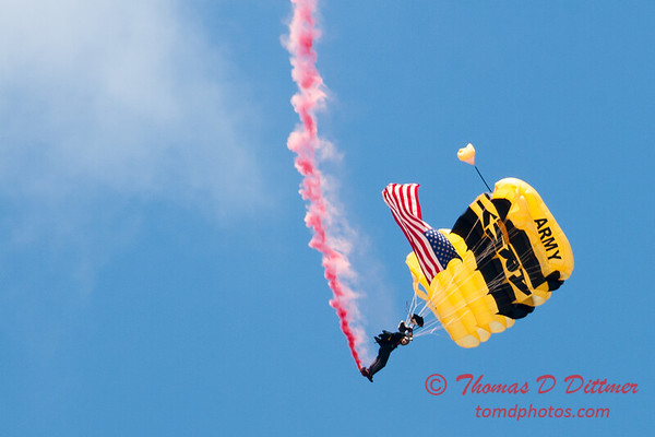70 -  US Army Golden Knights drop into the 2012 Rockford Airfest - Chicago Rockford International Airport - Rockford Illinois - Sunday June 3rd 2012