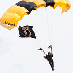 1000 - The US Army Golden Knights drop into the 2012 Rockford Airfest - Chicago Rockford International Airport - Rockford Illinois - Sunday June 3rd 2012