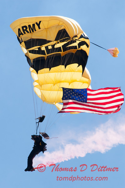 79 -  US Army Golden Knights drop into the 2012 Rockford Airfest - Chicago Rockford International Airport - Rockford Illinois - Sunday June 3rd 2012
