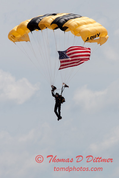 87 -  US Army Golden Knights drop into the 2012 Rockford Airfest - Chicago Rockford International Airport - Rockford Illinois - Sunday June 3rd 2012