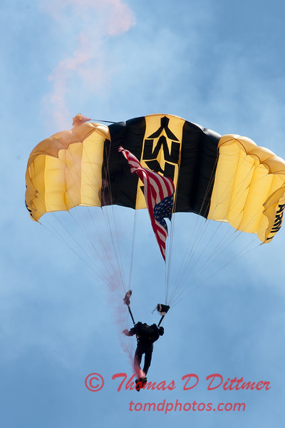 82 -  US Army Golden Knights drop into the 2012 Rockford Airfest - Chicago Rockford International Airport - Rockford Illinois - Sunday June 3rd 2012