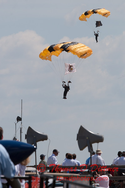 111 -  US Army Golden Knights drop into the 2012 Rockford Airfest - Chicago Rockford International Airport - Rockford Illinois - Sunday June 3rd 2012