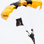 1001 - The US Army Golden Knights drop into the 2012 Rockford Airfest - Chicago Rockford International Airport - Rockford Illinois - Sunday June 3rd 2012