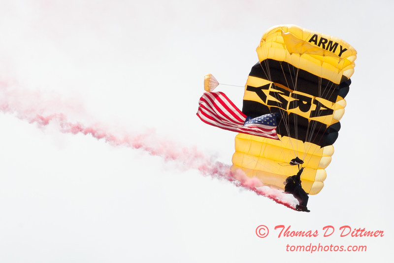 77 -  US Army Golden Knights drop into the 2012 Rockford Airfest - Chicago Rockford International Airport - Rockford Illinois - Sunday June 3rd 2012