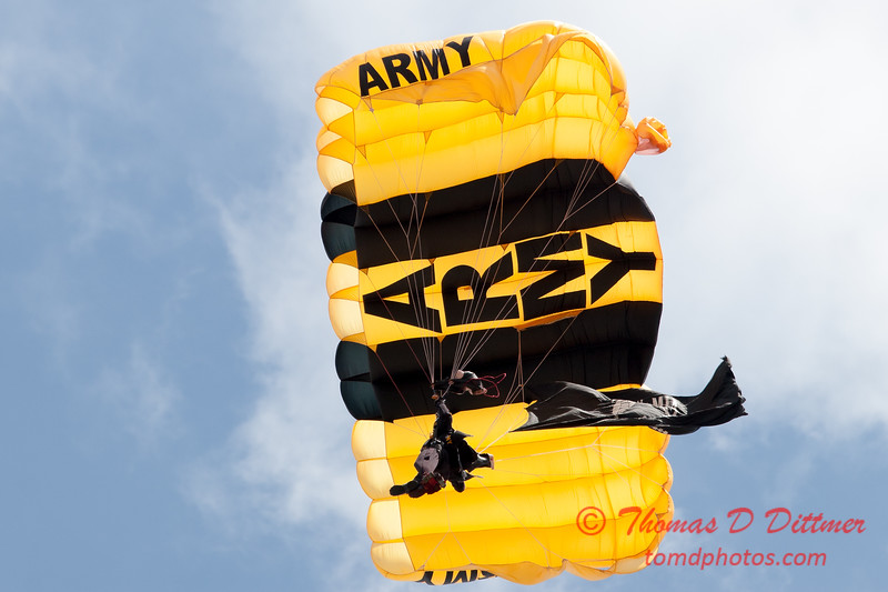 996 - The US Army Golden Knights drop into the 2012 Rockford Airfest - Chicago Rockford International Airport - Rockford Illinois - Sunday June 3rd 2012