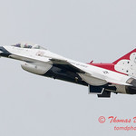 1130 - US Air Force Thunderbirds Sunday performance in F16 Fighting Falcons at the 2012 Rockford Airfest - Chicago Rockford International Airport - Rockford Illinois - Sunday June 3rd 2012