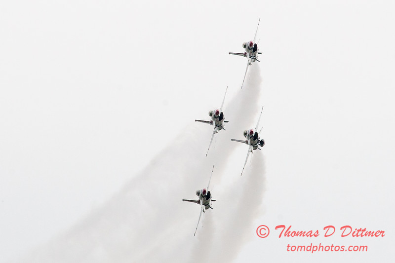 1157 - US Air Force Thunderbirds Sunday performance in F16 Fighting Falcons at the 2012 Rockford Airfest - Chicago Rockford International Airport - Rockford Illinois - Sunday June 3rd 2012