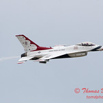 1196 - US Air Force Thunderbirds Sunday performance in F16 Fighting Falcons at the 2012 Rockford Airfest - Chicago Rockford International Airport - Rockford Illinois - Sunday June 3rd 2012