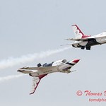 1176 - US Air Force Thunderbirds Sunday performance in F16 Fighting Falcons at the 2012 Rockford Airfest - Chicago Rockford International Airport - Rockford Illinois - Sunday June 3rd 2012