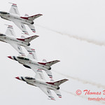 1083 - US Air Force Thunderbirds Sunday performance in F16 Fighting Falcons at the 2012 Rockford Airfest - Chicago Rockford International Airport - Rockford Illinois - Sunday June 3rd 2012