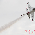 1106 - US Air Force Thunderbirds Sunday performance in F16 Fighting Falcons at the 2012 Rockford Airfest - Chicago Rockford International Airport - Rockford Illinois - Sunday June 3rd 2012