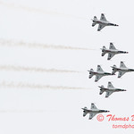 1174 - US Air Force Thunderbirds Sunday performance in F16 Fighting Falcons at the 2012 Rockford Airfest - Chicago Rockford International Airport - Rockford Illinois - Sunday June 3rd 2012