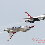 1179 - US Air Force Thunderbirds Sunday performance in F16 Fighting Falcons at the 2012 Rockford Airfest - Chicago Rockford International Airport - Rockford Illinois - Sunday June 3rd 2012