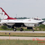 1218 - US Air Force Thunderbirds return to earth after their Sunday performance in F16 Fighting Falcons at the 2012 Rockford Airfest - Chicago Rockford International Airport - Rockford Illinois - Sunday June 3rd 2012