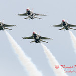 1188 - US Air Force Thunderbirds Sunday performance in F16 Fighting Falcons at the 2012 Rockford Airfest - Chicago Rockford International Airport - Rockford Illinois - Sunday June 3rd 2012