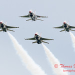 1187 - US Air Force Thunderbirds Sunday performance in F16 Fighting Falcons at the 2012 Rockford Airfest - Chicago Rockford International Airport - Rockford Illinois - Sunday June 3rd 2012