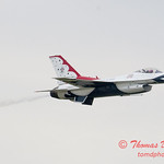 1131 - US Air Force Thunderbirds Sunday performance in F16 Fighting Falcons at the 2012 Rockford Airfest - Chicago Rockford International Airport - Rockford Illinois - Sunday June 3rd 2012