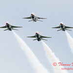 1186 - US Air Force Thunderbirds Sunday performance in F16 Fighting Falcons at the 2012 Rockford Airfest - Chicago Rockford International Airport - Rockford Illinois - Sunday June 3rd 2012
