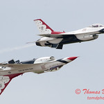 1181 - US Air Force Thunderbirds Sunday performance in F16 Fighting Falcons at the 2012 Rockford Airfest - Chicago Rockford International Airport - Rockford Illinois - Sunday June 3rd 2012