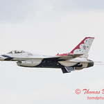 1075 - US Air Force Thunderbirds Sunday performance in F16 Fighting Falcons at the 2012 Rockford Airfest - Chicago Rockford International Airport - Rockford Illinois - Sunday June 3rd 2012