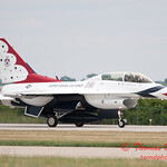 1212 - US Air Force Thunderbirds return to earth after their Sunday performance in F16 Fighting Falcons at the 2012 Rockford Airfest - Chicago Rockford International Airport - Rockford Illinois - Sunday June 3rd 2012