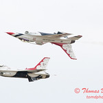 1118 - US Air Force Thunderbirds Sunday performance in F16 Fighting Falcons at the 2012 Rockford Airfest - Chicago Rockford International Airport - Rockford Illinois - Sunday June 3rd 2012