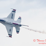 1091 - US Air Force Thunderbirds Sunday performance in F16 Fighting Falcons at the 2012 Rockford Airfest - Chicago Rockford International Airport - Rockford Illinois - Sunday June 3rd 2012