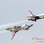1177 - US Air Force Thunderbirds Sunday performance in F16 Fighting Falcons at the 2012 Rockford Airfest - Chicago Rockford International Airport - Rockford Illinois - Sunday June 3rd 2012