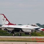 1202 - US Air Force Thunderbirds return to earth after their Sunday performance in F16 Fighting Falcons at the 2012 Rockford Airfest - Chicago Rockford International Airport - Rockford Illinois - Sunday June 3rd 2012
