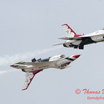 1178 - US Air Force Thunderbirds Sunday performance in F16 Fighting Falcons at the 2012 Rockford Airfest - Chicago Rockford International Airport - Rockford Illinois - Sunday June 3rd 2012