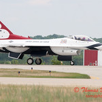 1230 - US Air Force Thunderbirds return to earth after their Sunday performance in F16 Fighting Falcons at the 2012 Rockford Airfest - Chicago Rockford International Airport - Rockford Illinois - Sunday June 3rd 2012