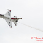 1104 - US Air Force Thunderbirds Sunday performance in F16 Fighting Falcons at the 2012 Rockford Airfest - Chicago Rockford International Airport - Rockford Illinois - Sunday June 3rd 2012