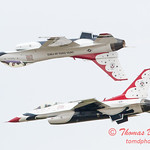 1121 - US Air Force Thunderbirds Sunday performance in F16 Fighting Falcons at the 2012 Rockford Airfest - Chicago Rockford International Airport - Rockford Illinois - Sunday June 3rd 2012