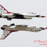 1185 - US Air Force Thunderbirds Sunday performance in F16 Fighting Falcons at the 2012 Rockford Airfest - Chicago Rockford International Airport - Rockford Illinois - Sunday June 3rd 2012
