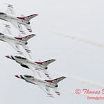 1082 - US Air Force Thunderbirds Sunday performance in F16 Fighting Falcons at the 2012 Rockford Airfest - Chicago Rockford International Airport - Rockford Illinois - Sunday June 3rd 2012