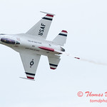 1093 - US Air Force Thunderbirds Sunday performance in F16 Fighting Falcons at the 2012 Rockford Airfest - Chicago Rockford International Airport - Rockford Illinois - Sunday June 3rd 2012