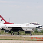 1222 - US Air Force Thunderbirds return to earth after their Sunday performance in F16 Fighting Falcons at the 2012 Rockford Airfest - Chicago Rockford International Airport - Rockford Illinois - Sunday June 3rd 2012