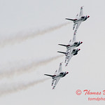 1156 - US Air Force Thunderbirds Sunday performance in F16 Fighting Falcons at the 2012 Rockford Airfest - Chicago Rockford International Airport - Rockford Illinois - Sunday June 3rd 2012