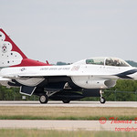 1213 - US Air Force Thunderbirds return to earth after their Sunday performance in F16 Fighting Falcons at the 2012 Rockford Airfest - Chicago Rockford International Airport - Rockford Illinois - Sunday June 3rd 2012