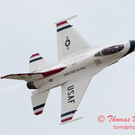 1197 - US Air Force Thunderbirds Sunday performance in F16 Fighting Falcons at the 2012 Rockford Airfest - Chicago Rockford International Airport - Rockford Illinois - Sunday June 3rd 2012