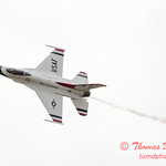 1105 - US Air Force Thunderbirds Sunday performance in F16 Fighting Falcons at the 2012 Rockford Airfest - Chicago Rockford International Airport - Rockford Illinois - Sunday June 3rd 2012